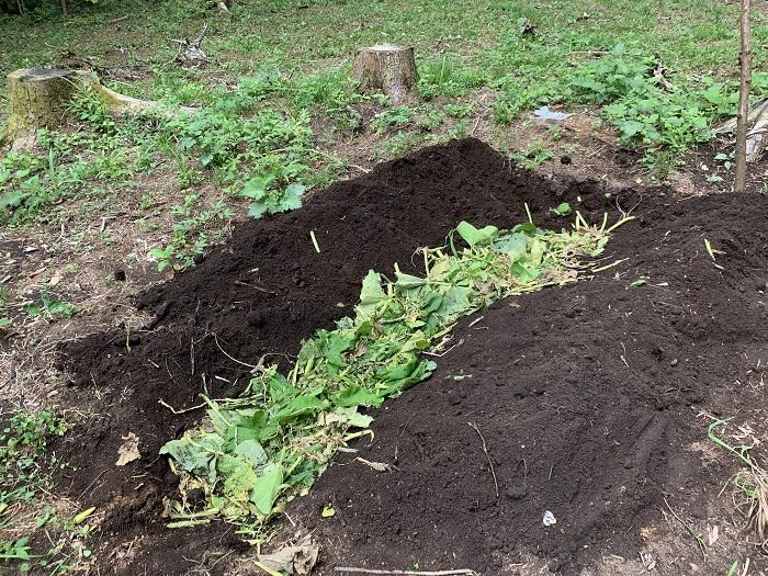 残渣を堆肥に