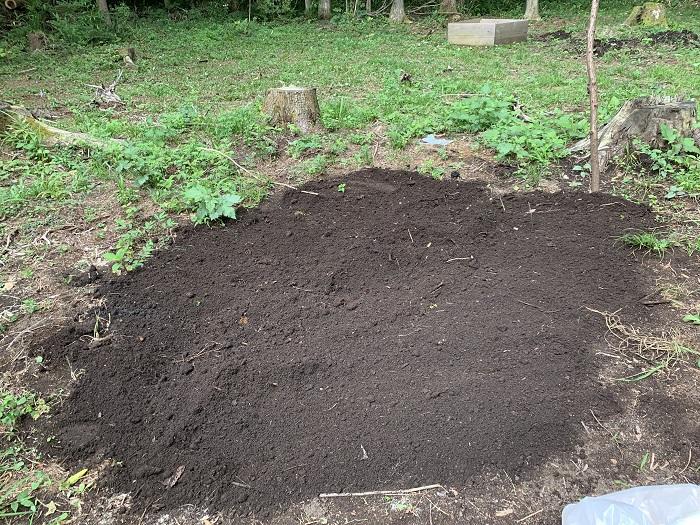 残渣を有機肥料に